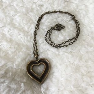 Death Before Dishonor Bronze Heart Necklace